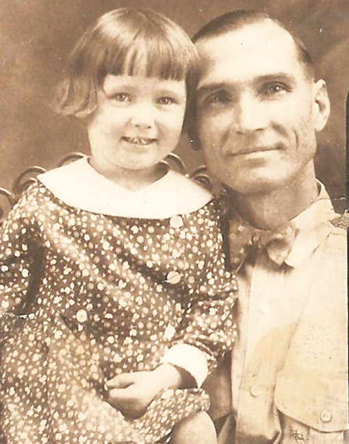 My Mom and her Daddy, circa 1932