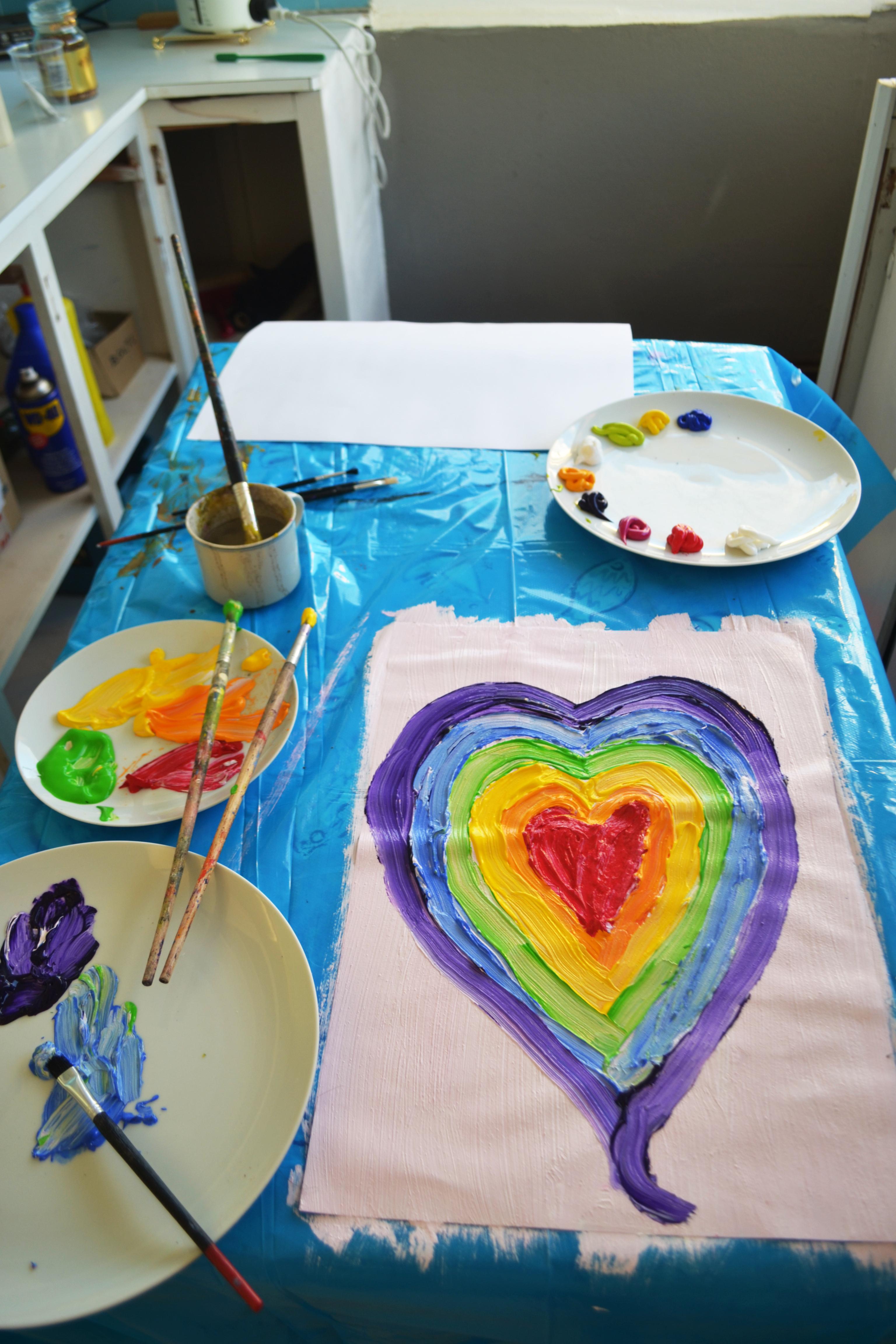 amelia heart painting