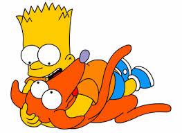 Looks like Bart found Santa's Little Helper. I wonder if he followed Homer's advice?