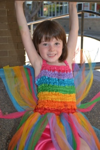 Our Gorgeous Little Rainbow Fairy Almost Aged 5 and About to Start School.