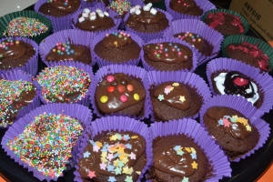Yummy Chocolate Cupcakes.