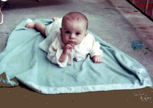 Ever the philosopher, me at around 6 months.
