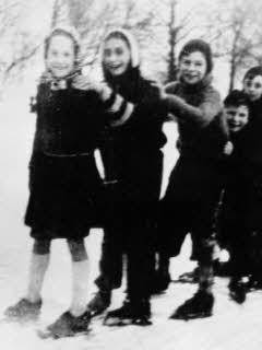 Anne Frank ice skating with friends prior to going into hiding. Such an every day thing, which takes on incredible significance when Anne and her family could even do the basic things we take for granted.