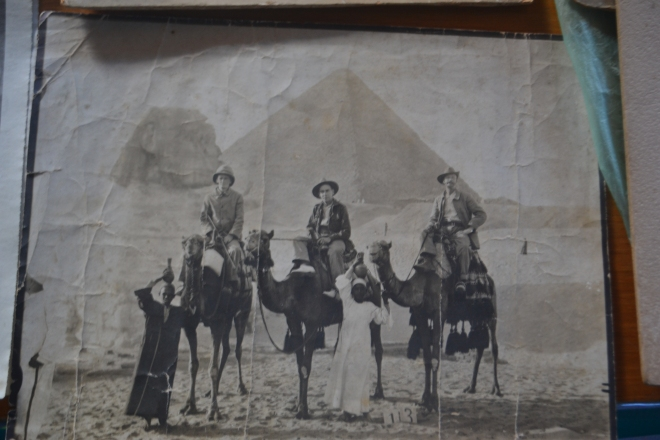 Australian Troops in front of the pyramids in Egypt.