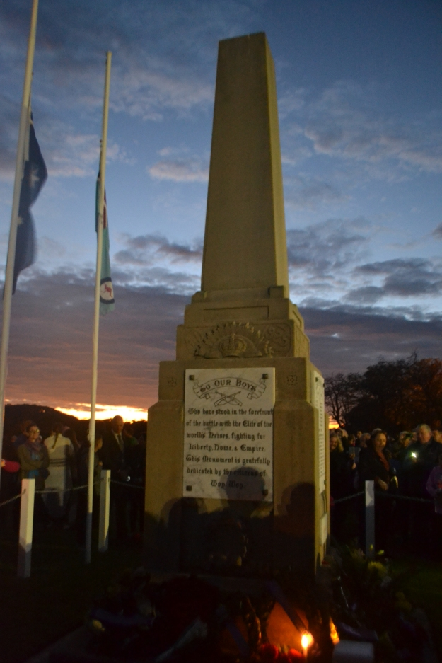 Dawn breaking after the commemorative service.