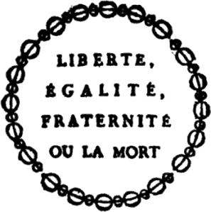 Text displayed on a placard announcing the sale of biens nationaux (1793).