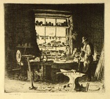 "Lionel Lindsay: ""The Smithy Window, Ambleside"" (1924)."