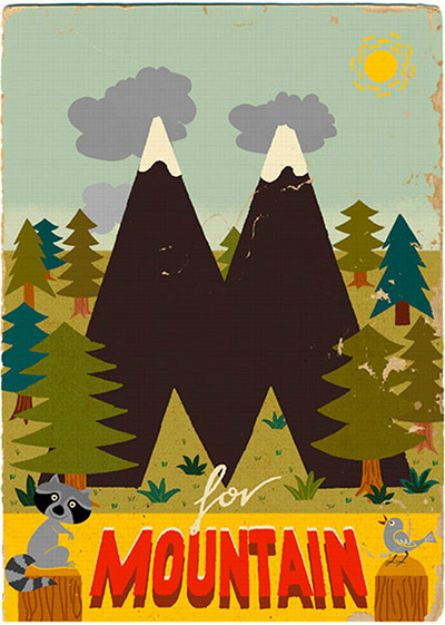 M is for mountain From Alphabet by Paul Thurlby Published by Templar Publishing