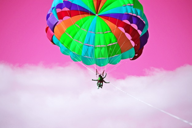 Going parasailing changed the colour of my day. It's the closest I've ever come to feeling as free as a bird.