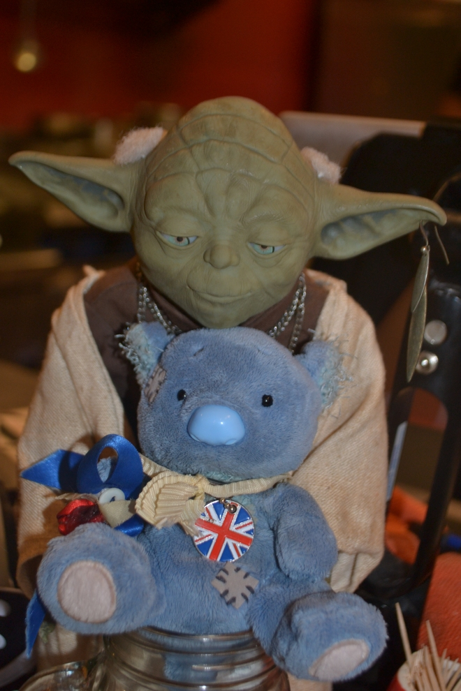 Wally sought help from the Force and consulted Yoda.
