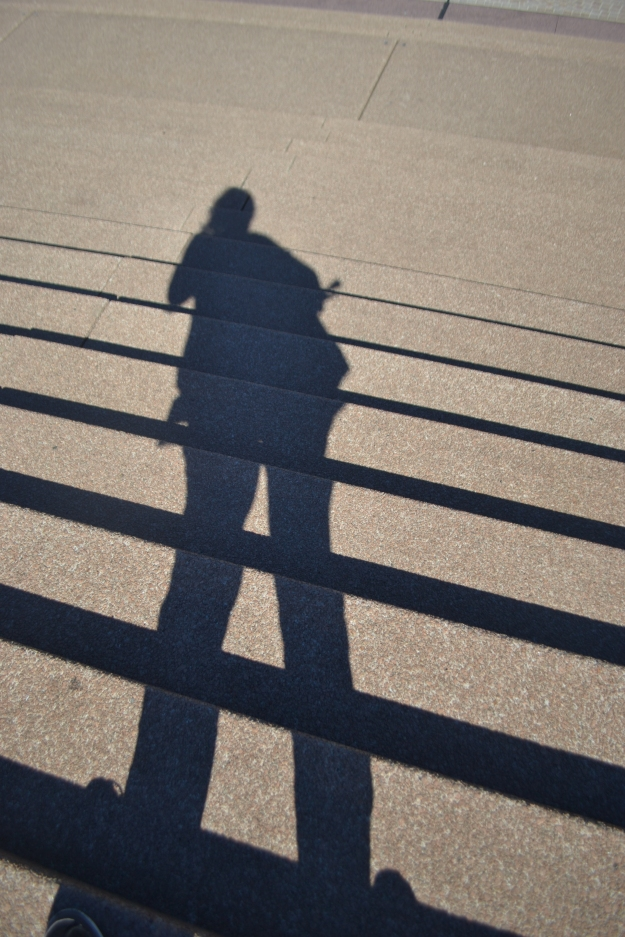 Shadow Selfie on the Opera House Front Steps.