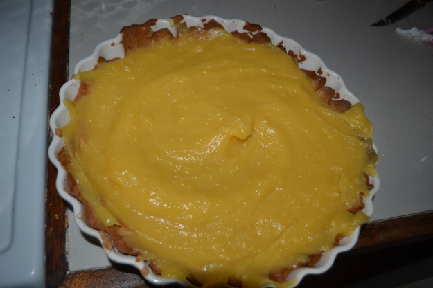 Miss added that extra special touch swirling around the lemon butter filling. Quite the professional in the making!