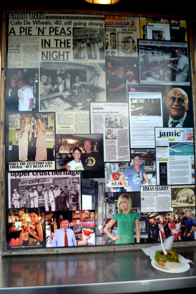 The Wall of Fame at Harry's Cafe de Wheels.