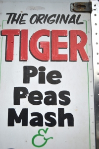 Sign for Harry's inimitabl Tiger Pie.