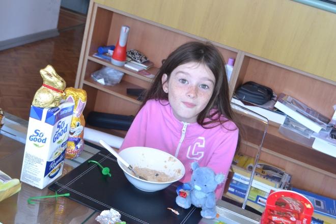 Miss enjoying Easter breakfast with Wally.