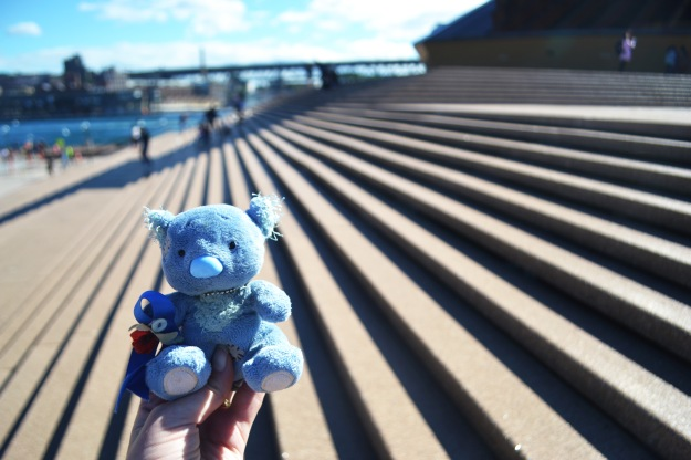 Wally on the Opera House Steps