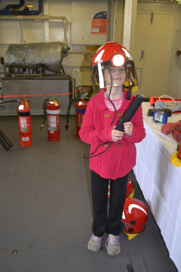 Missis now ready to put out any fires onboard.