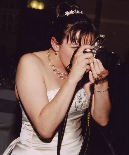 The Photographer Bride: taking photos at my own wedding. Totally incorrigible.