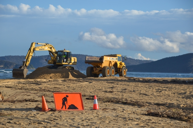Roadworks at the Beach