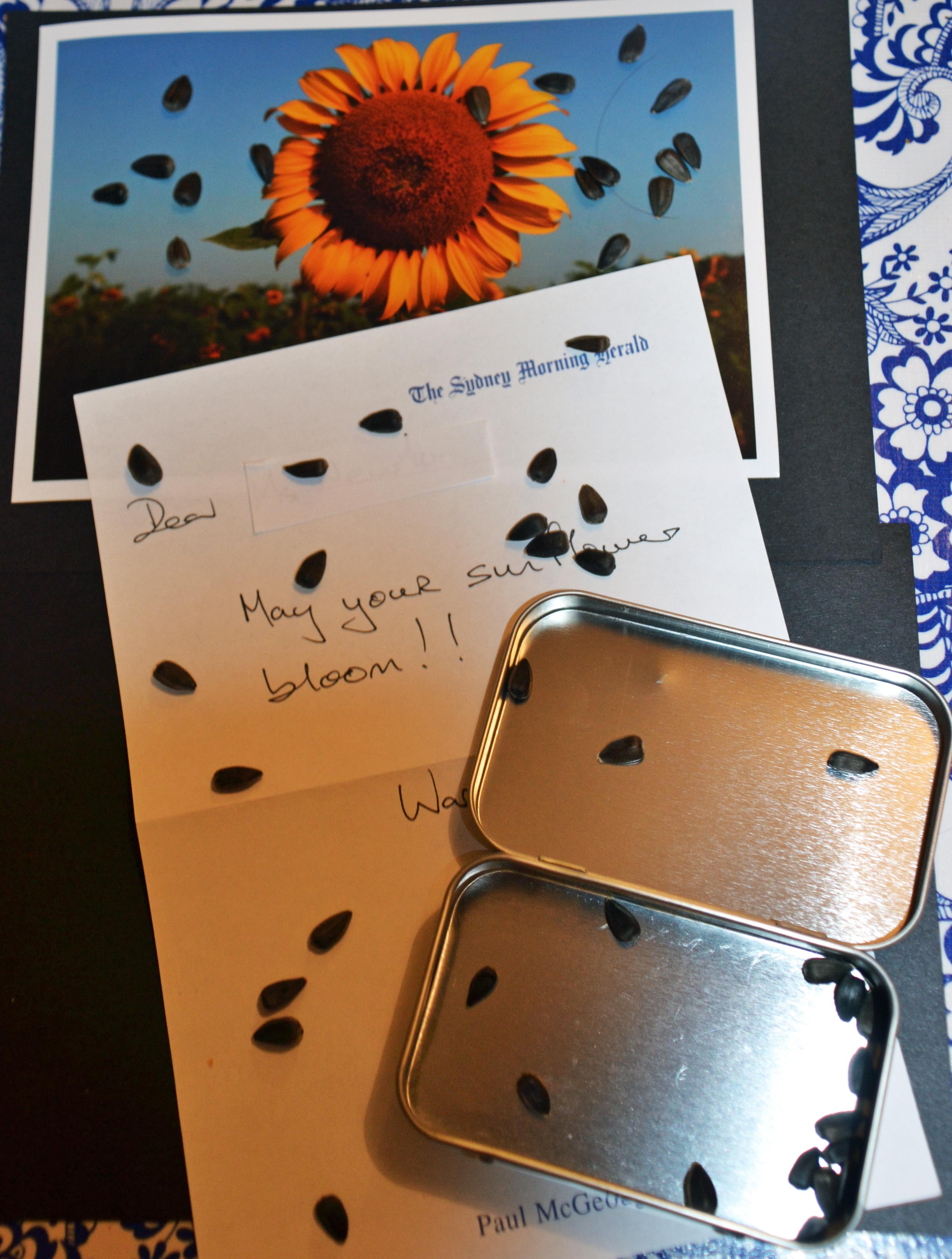 Sunflower letter