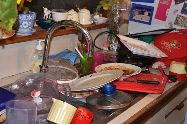 Loads of messy dishes: the sign of a great night!
