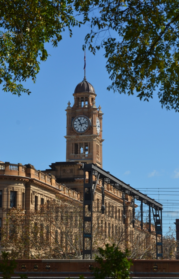 The Clock Tower at Central Station, viewed from Surry Hills.