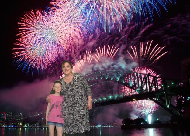 Transported to Sydney's New Year's Eve Fireworks extravaganza.