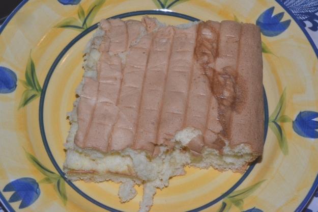 Yum! A sawn-off slab of sponge.