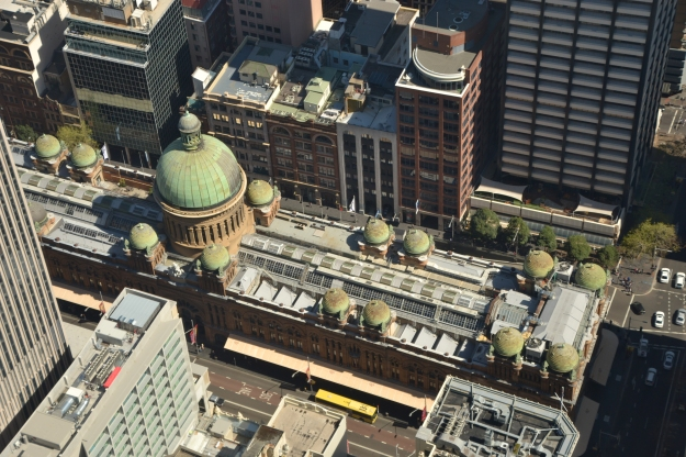 Queen Victoria Building, viewed from the Sydney Tower Eye.