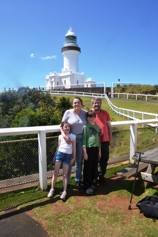 Updating our annual family photo at the Byron Bay Lighthouse.