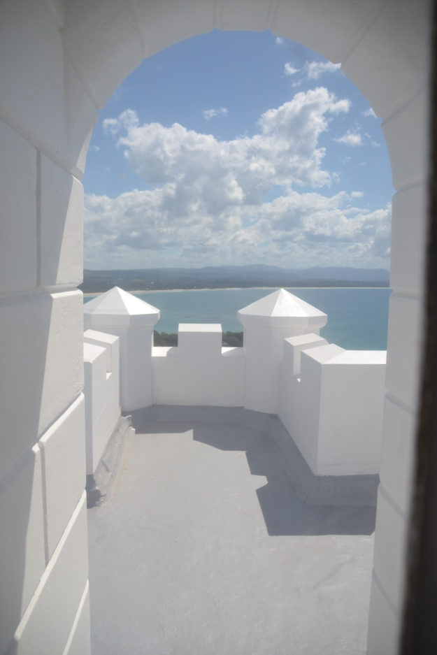 View Halfway up the lighthouse.