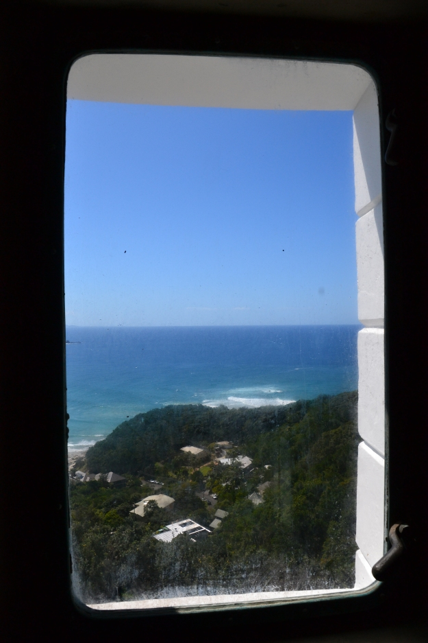 The view on the way up the lighthouse.