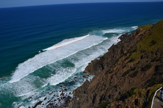 The waves pounding the shore....Byron Bay Lighthouse.