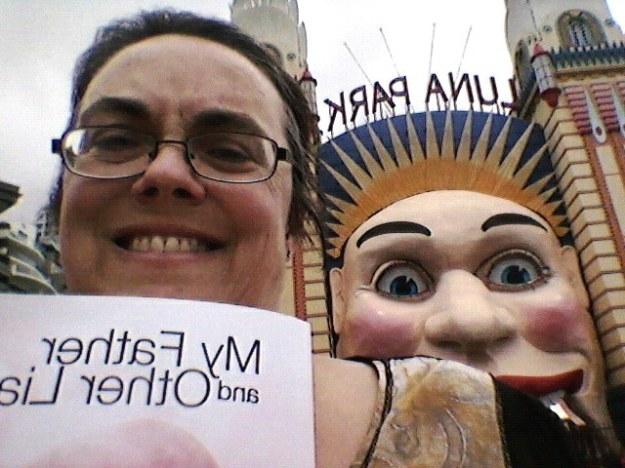 Another dodgy selfie in front of Sydney's famous Luna Park face.