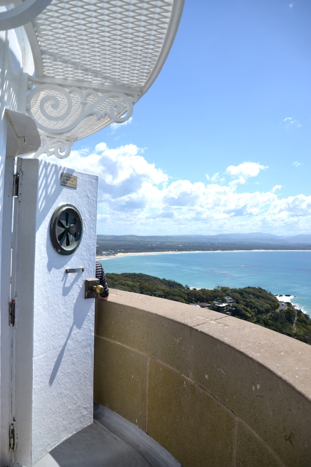 The lighthouse door opened up to such an incredible view!