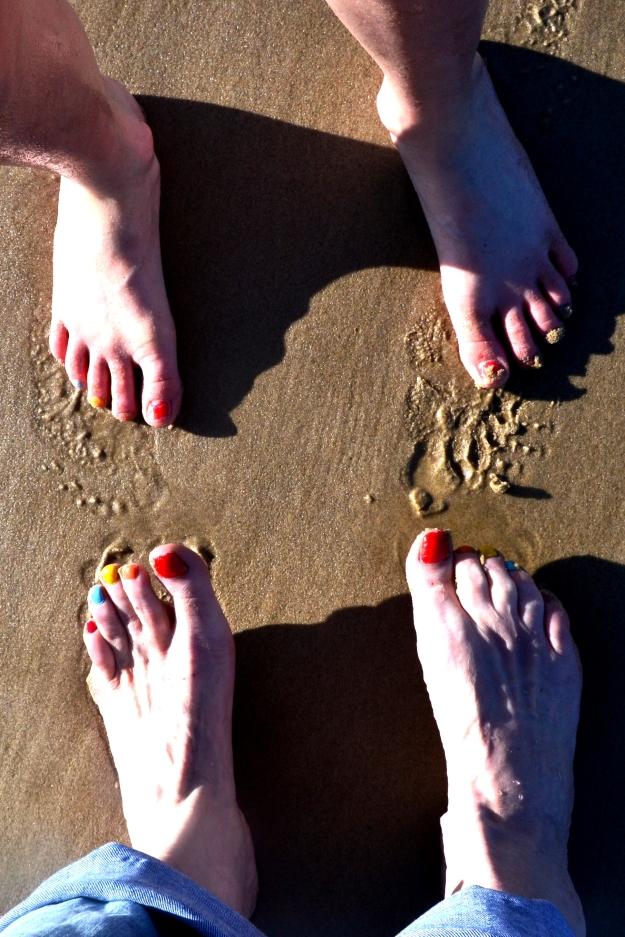 Mother & Daughter Feet: Not big feet and little feet anymore!