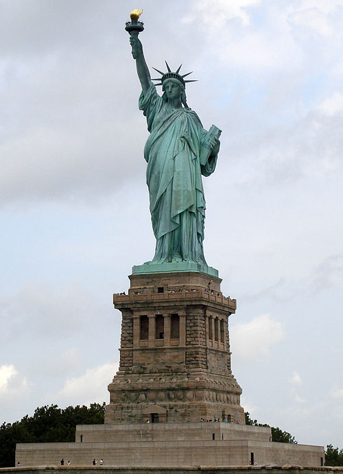 The Statue of Liberty. Source: Wikipaedia.