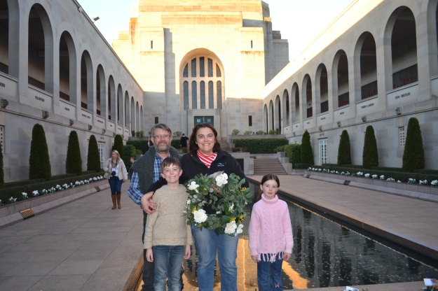 Our Family at the Australian War Memorial, Canberra in 2014.