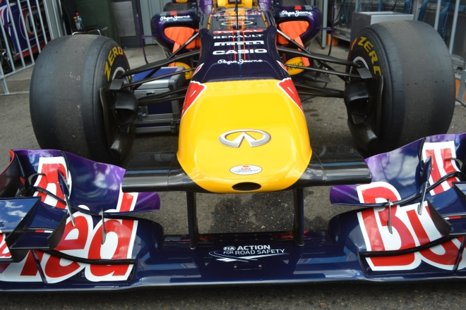 The Red Bull Car as driven by Daniel Ricardo.