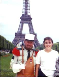 At the Eiffel Tower in 1992