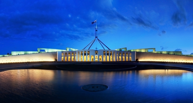 Parliament House, Canberra...Photo Wikipaedia.
