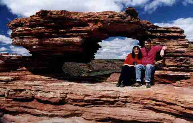 George and I at Nature's Window, Kalbarri North of Perth in 2002.