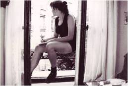 Writing on the Window Sill at the Hotel Henri IV July, 1992.