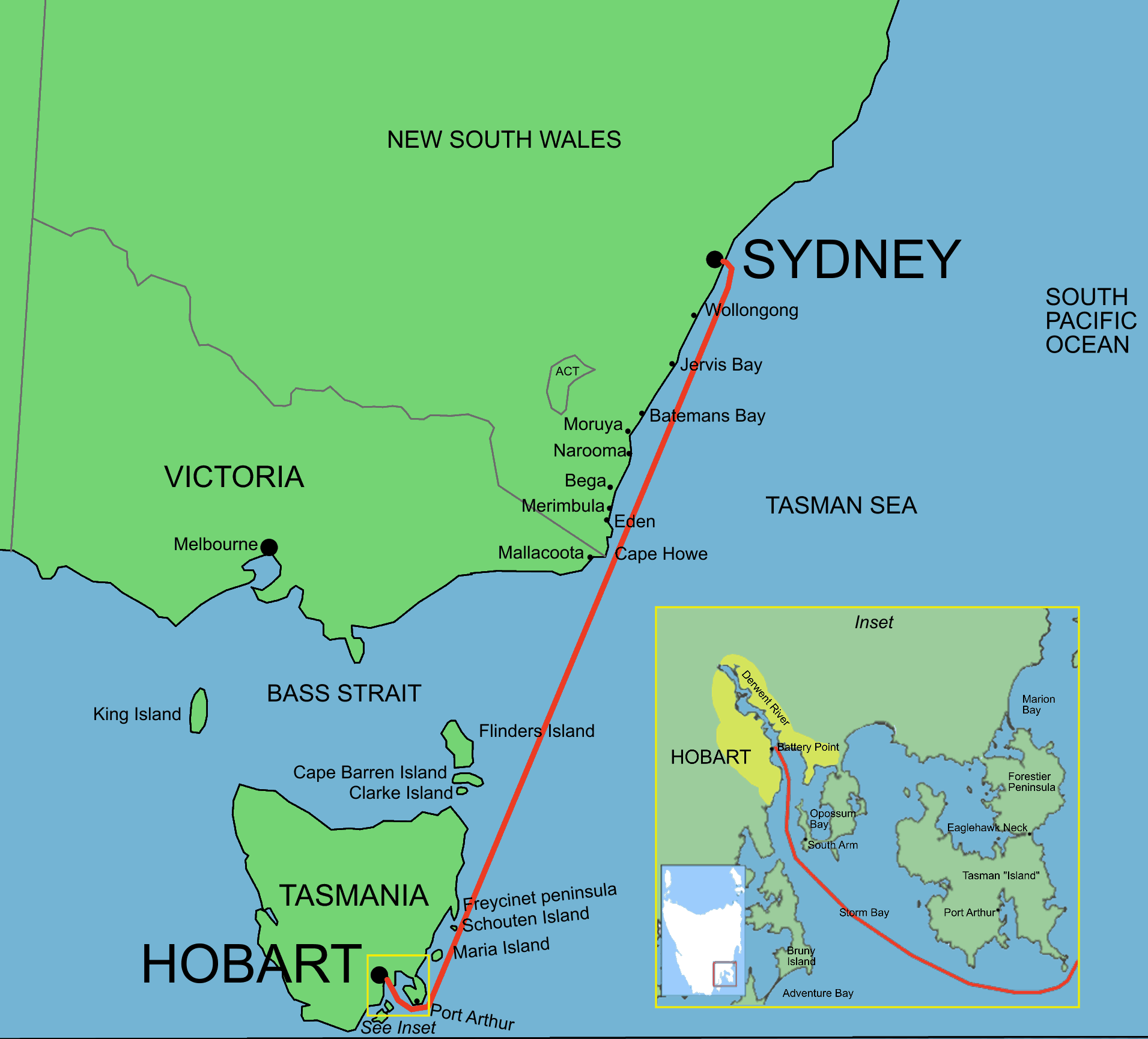 Sydney_to_hobart_yacht_race_route