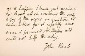 keats letter