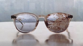 John Lennon's bloodstained glasses of John Lennon, tweeted by Yoko Ono on what would have been their 44th anniversary. (Pic: Twitter @yokoono)