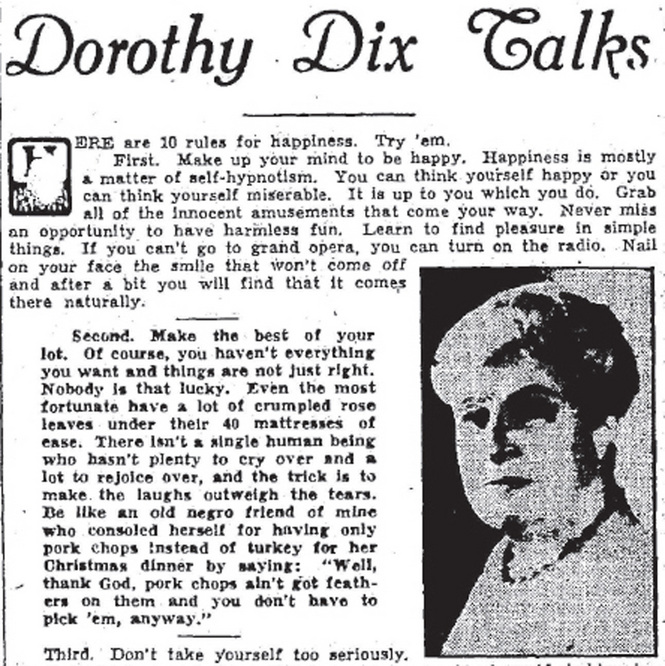 Dorothy Dix Talks