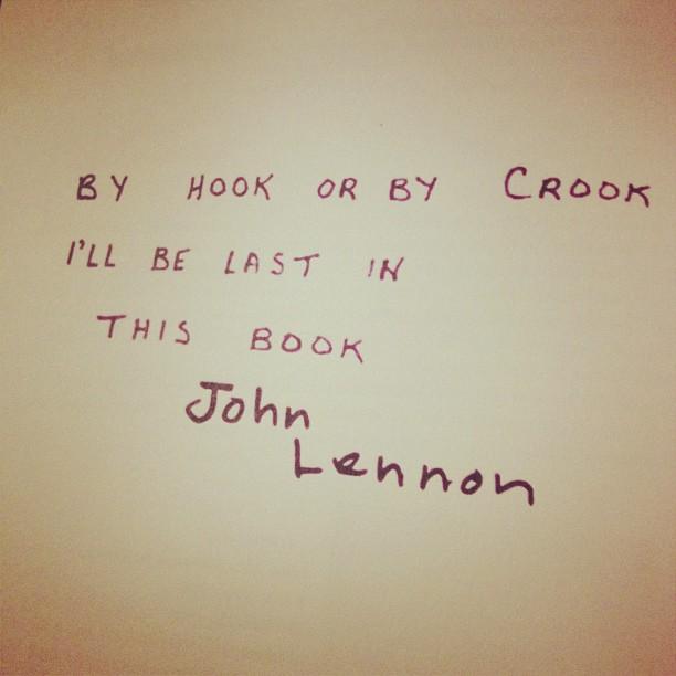 John Lennon autograph book