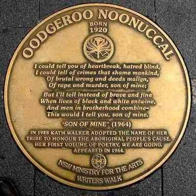Oodgeroo-Noonuccal plaque