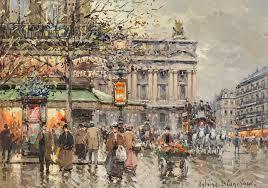 Wilde Antoine Blanchard Place d L'opera et cafe de la Paix en 190